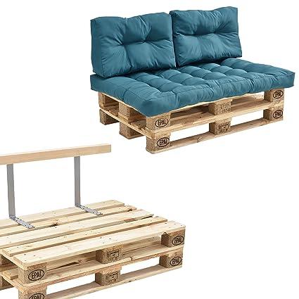 [en.casa] Divano palette euro - mobili DIY - Divano per dentro con cuscini per le palette ideale per salotto - giardino d´inverno