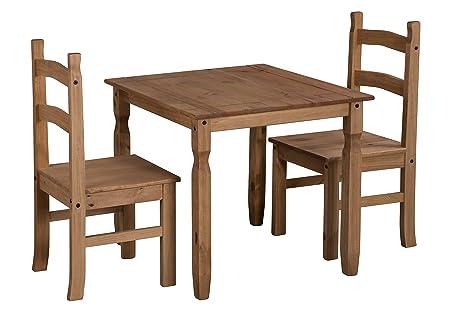 Mercers Furniture Corona Rio Esstisch und 2Stuhle, Kiefernholz