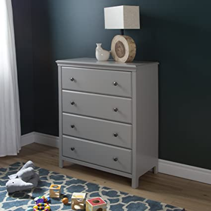South Shore Cotton Candy 4-Drawer Chest, Soft Gray