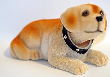 Voiture - Chien tête qui bouge - Labrador - 19 cm