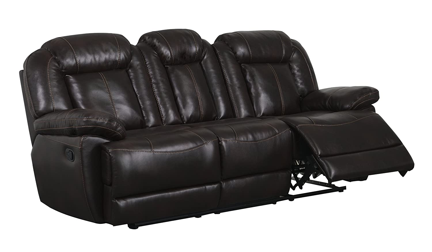 Global Furniture Reclining Sofa - Brown