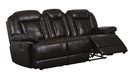 Global Furniture Reclining Sofa, Brown