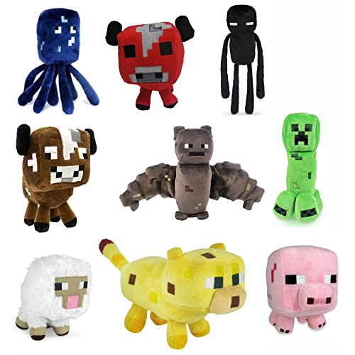 Minecraft 7 Assorted Plush: Set of 9