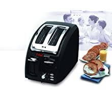 T-fal 8746002 Classic Avante 2-Slice Toaster with Bagel Function, Black