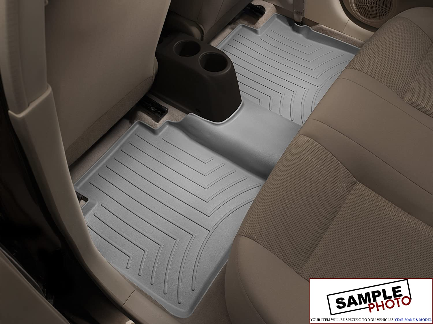 2014 Fiat 500 Abarth Cabrio Gray Weathertech Rear FloorLiner in Grey Rear FloorLiner