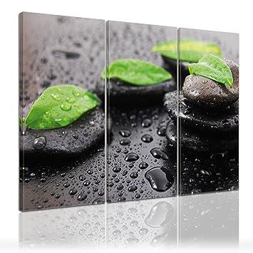 Bilderdepot24 impression sur sur toile gouttes d 39 eau et cailloux zen i i - Cuisine direct fabricant ...
