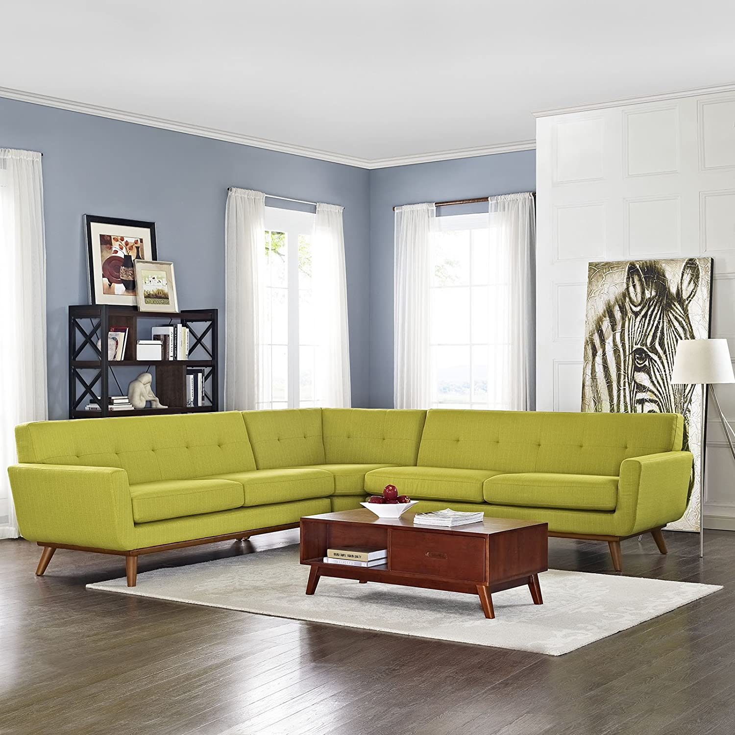 Engage L-Shaped Sectional Sofa - Wheat