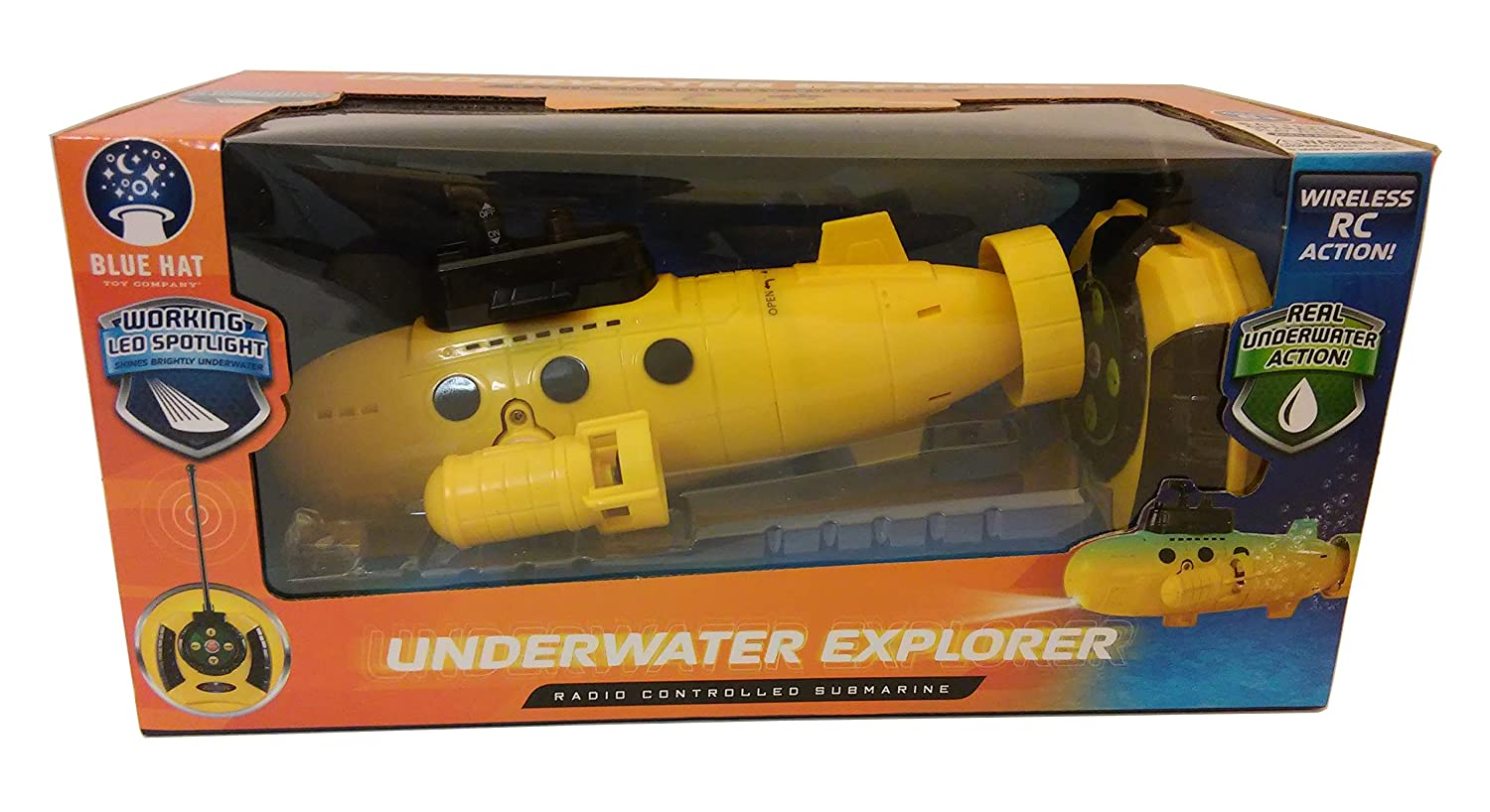 Remote Control Submarine - UNDERWATER EXPLORER - Yellow