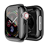 Smiling Apple Watch 4 Case with Buit in TPU Screen Protector 44mm- All Around Protective Case High Definition Clear Ultra-Thin Cover Apple iwatch 44mm Series 4(Black, 44mm) (Color: black, Tamaño: 44mm)