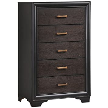 LexMod Madison Chest, 4-Inch, Walnut