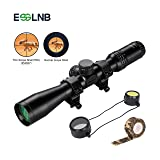 ESSLNB Air Rifle Scope with 2 Mounts Flip Up Covers Camouflage Tape 3-9x44mm Waterproof Green Multi-Coated Airsoft Scope for Hunting and Shooting (Color: Black)