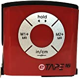 eTape16 Digital Tape Measure, 16 Feet, Inch and Metric - Red - Single Pack (Special Packaging) (Color: 1-Pack Boxed Red, Tamaño: Inch/Metric)
