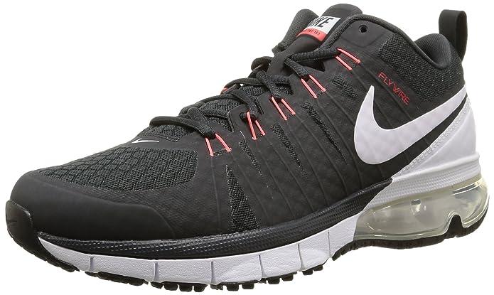 ... Nike Air Max 180 Mens Running Shoe Black White ...