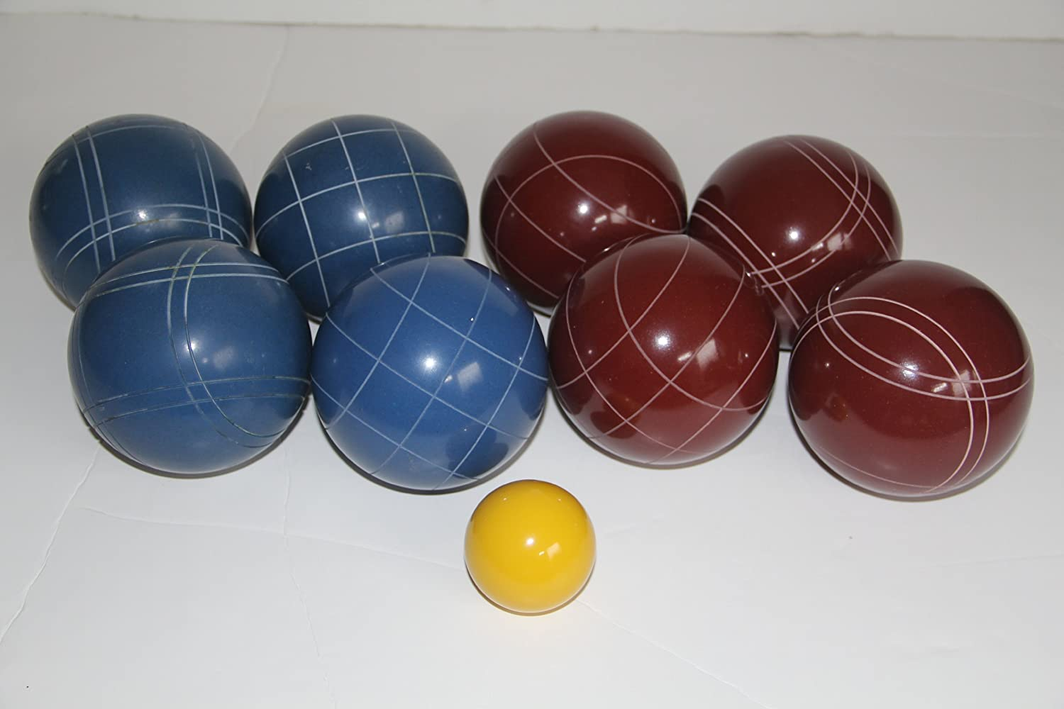 Premium Quality EPCO Tournament Bocce Set – 107mm Red and Blue Bocce Balls – … online bestellen