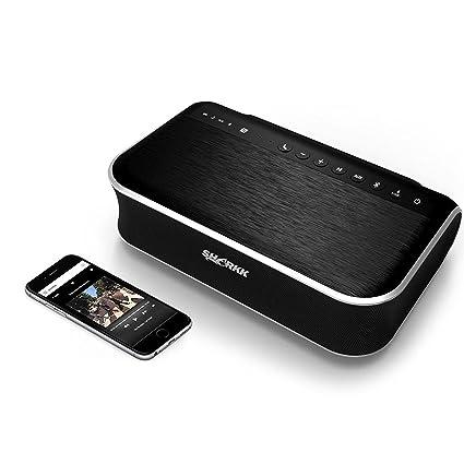 SHARKK BEAST 45W Bluetooth Speaker 2.1 Channel Speaker with Subwoofer Powerful Home Speaker for TV Patio Dorm Room 4400mAh Powerbank Speaker at amazon