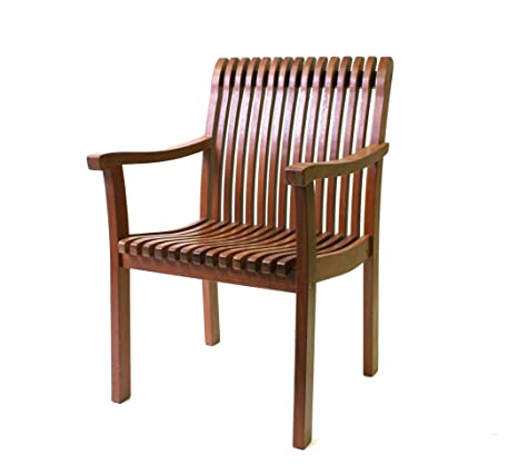 Outdoor Interiors VC5060 Eucalyptus Venetian Deluxe Arm Chair