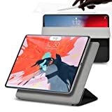 rooCASE iPad Pro 12.9 2018 Case, Magnetic Smart Folio Case for Apple iPad Pro 12.9-inch 2018 [Support Apple Pencil Charging] Magnetic Attachment, Auto Sleep/Wake, Trifold Stand Case, Black (Color: Black, Tamaño: iPad Pro 12.9 2018)