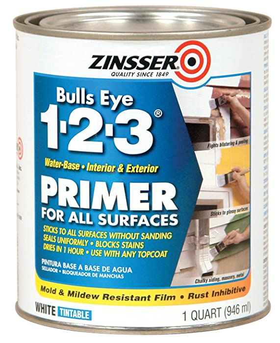Rust-Oleum 2004 Zinsser Bulls Eye 1-2-3 White Water-Based Interior/Exterior Primer Sealer