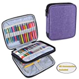 Teamoy Organizer Case for Interchangeable Circular Knitting Needles, Crochet Hooks and Knitting Accessories, Keep All in One Place and Easy to Carry, Purple (No Accessories Included) (Color: Purple, Tamaño: Small)