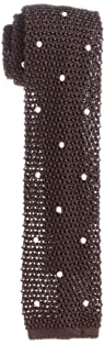 J. Press Silk Dot Knit Tie TROVCM0340: Brown