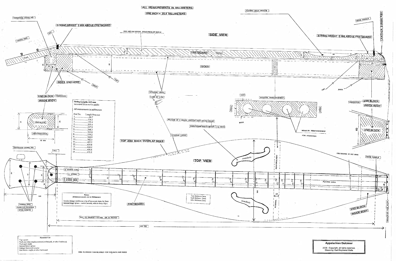 Woodwork dulcimer plans build plans pdf download free for How to build a house online program for free