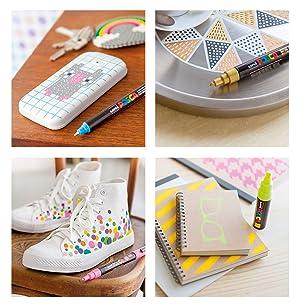 Posca PX36897000 Acrylic Paint Marker, Medium, Light Pink (Color: Light Pink)