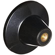 "DimcoGray Black Phenolic Push-Pull Knob Female, Brass Insert: 10-24"" Thread x 5/16"" Depth, 1-13/16"" Diameter x 1-3/16"" Height x 5/8"" Hub Dia x 7/8"" Hub Length (Pack of 10)"