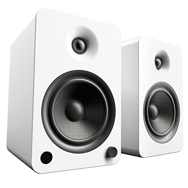 Kanto YU6 Powered Speakers with Bluetooth and Phono Preamp, Matte White (Color: Matte White)