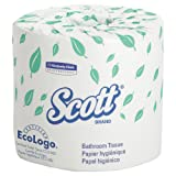 Kimberly-Clark Professional 04460 Scott 2-Ply Standard Roll Bathroom Tissue, White (Case of 80 Rolls)