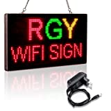 Leadleds RGY Tri-Color Scrolling Message Board WiFi LED Sign, 13