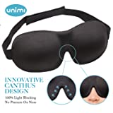 Eye Mask for Sleeping,Unimi Sleep Mask for Men Women, Block Out Light,Comfort and Lightweight 3D Eye Cover,Pressure-Free Eye Shades for Travel,Shift Work,Naps,Night Blindfold (Black) (Color: Black, Tamaño: 1)