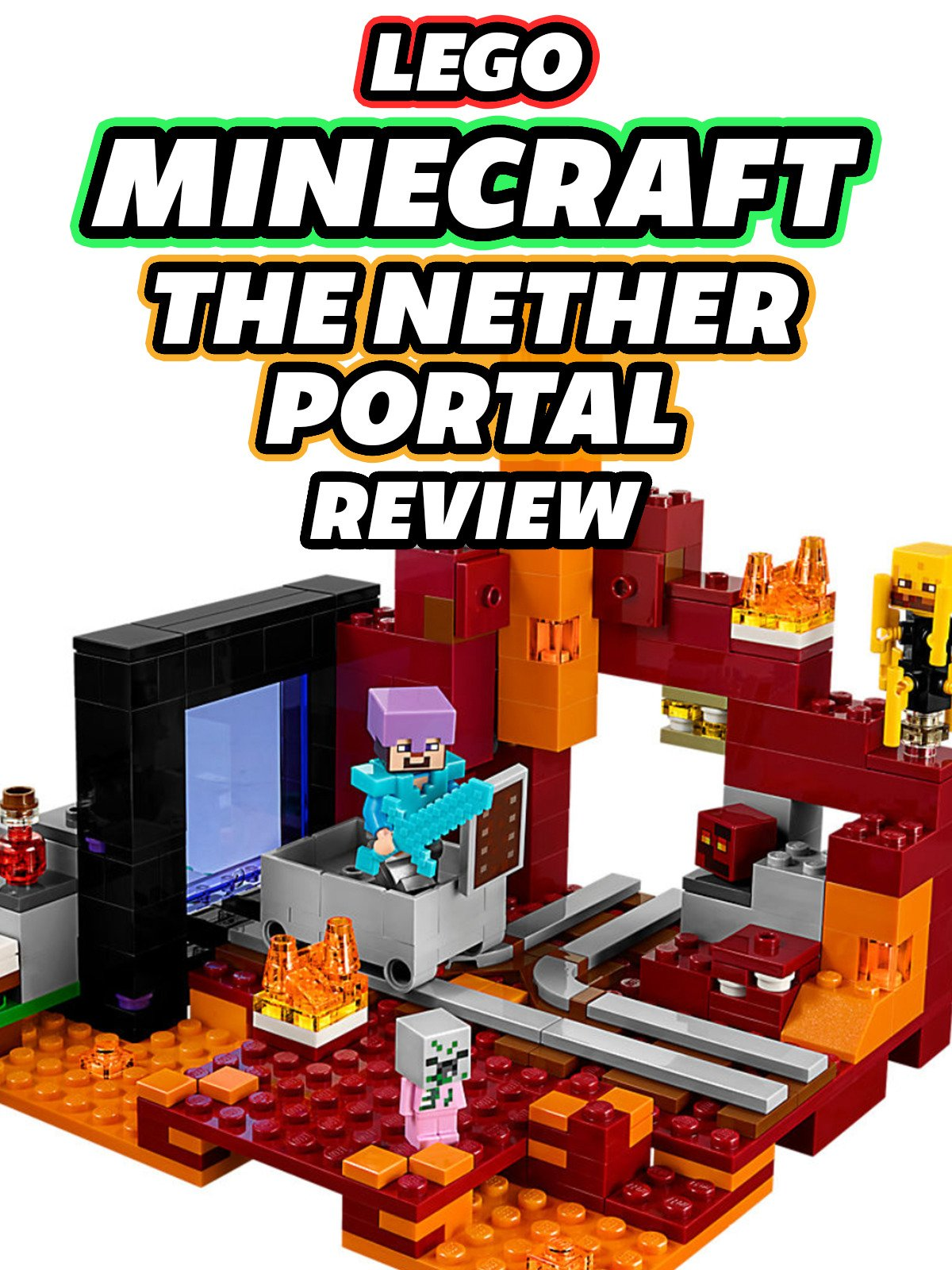 Clip: Lego Minecraft The Nether Portal Review
