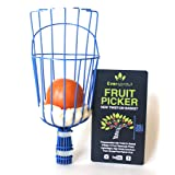 EVERSPROUT Twist-On Fruit Picker Basket   Twists onto Standard US Threaded Pole (3/4-inch Acme)   Fruit Harvester Attachment (Head Only, Pole Not Included) (Color: Blue, Tamaño: 11)