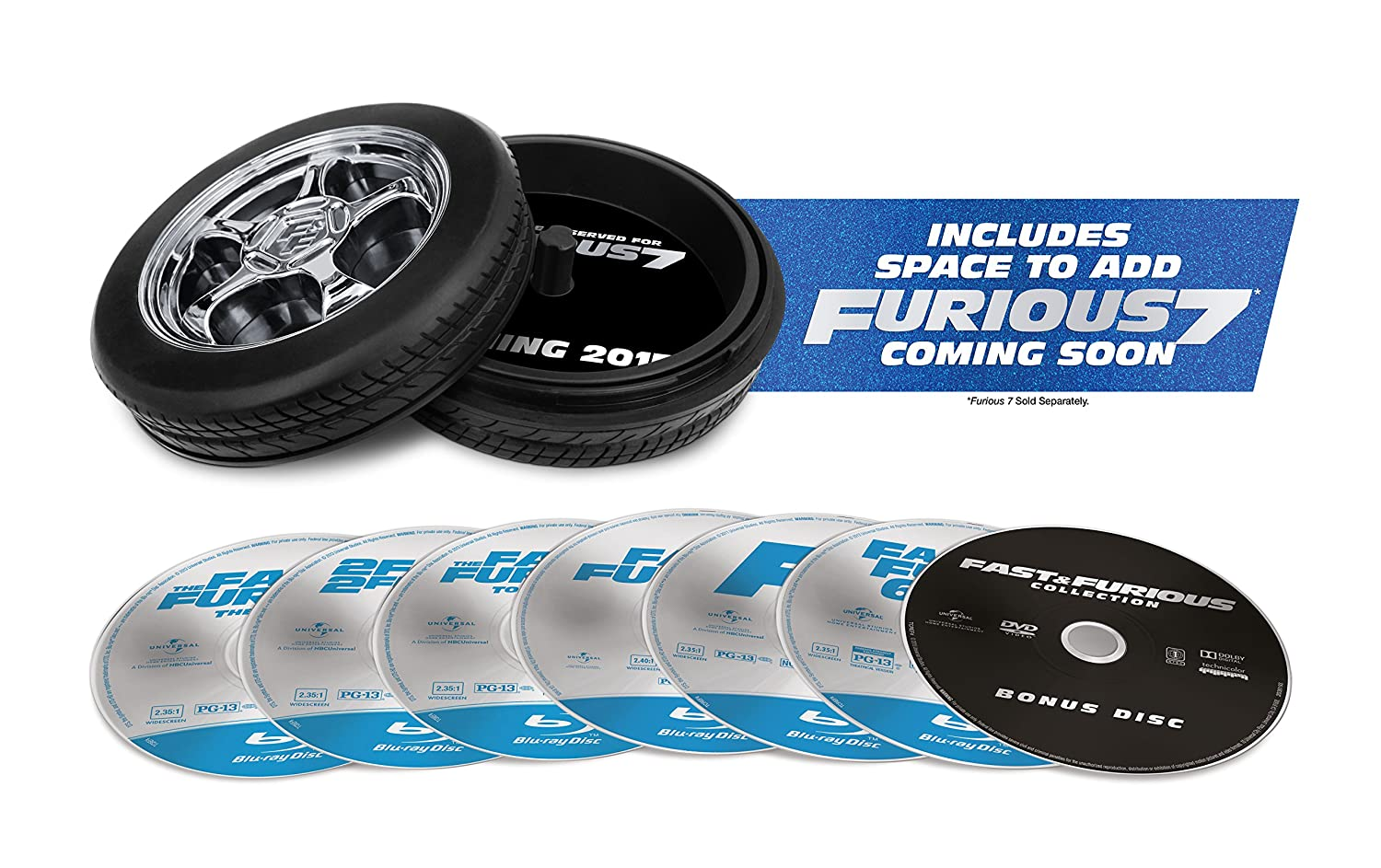 Fast & Furious 1-6 Collection - Limited Edition (Blu-ray with Digital HD)