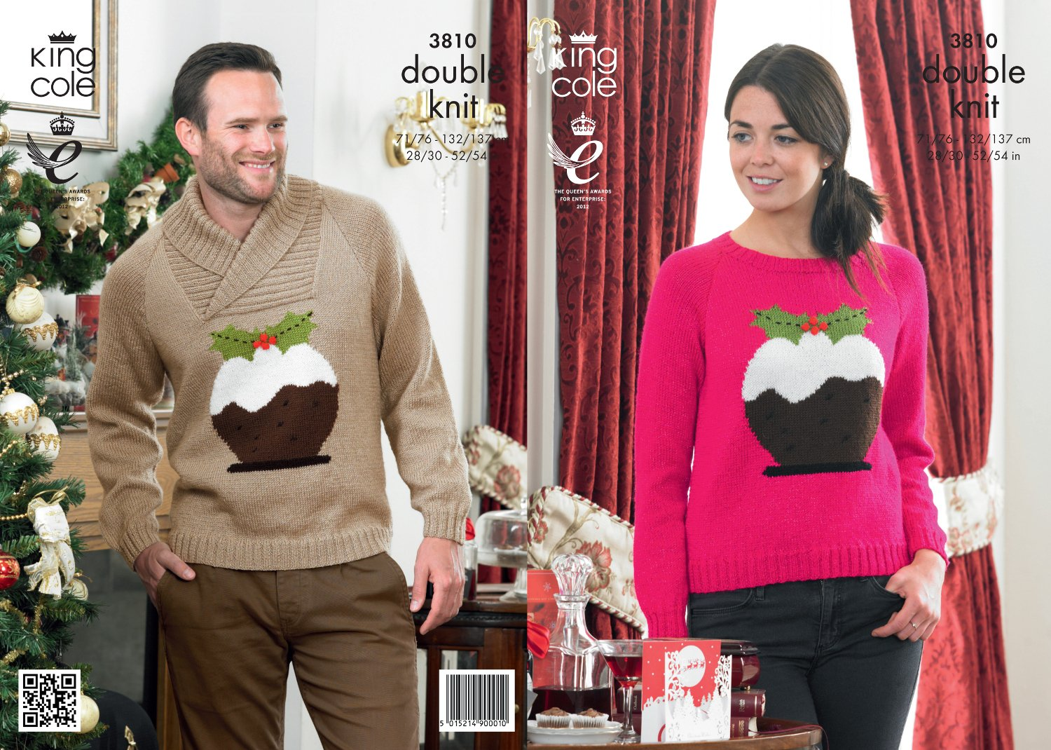 King Cole DK Knitting Pattern 3810 Christmas Sweaters
