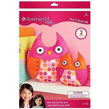 Amazon.com: American Girl Crafts Owls Sew and Stuff Kit: Childrens Art Supply Sets: Artwork