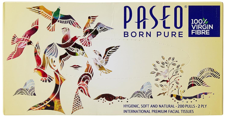 Paseo Tissues Born Pure Facial Box 200 Pulls Tissue