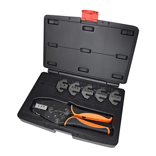 Astro Pneumatic Tool 9479 6-Piece Professional Deutsch Ratcheting Crimping Tool Set