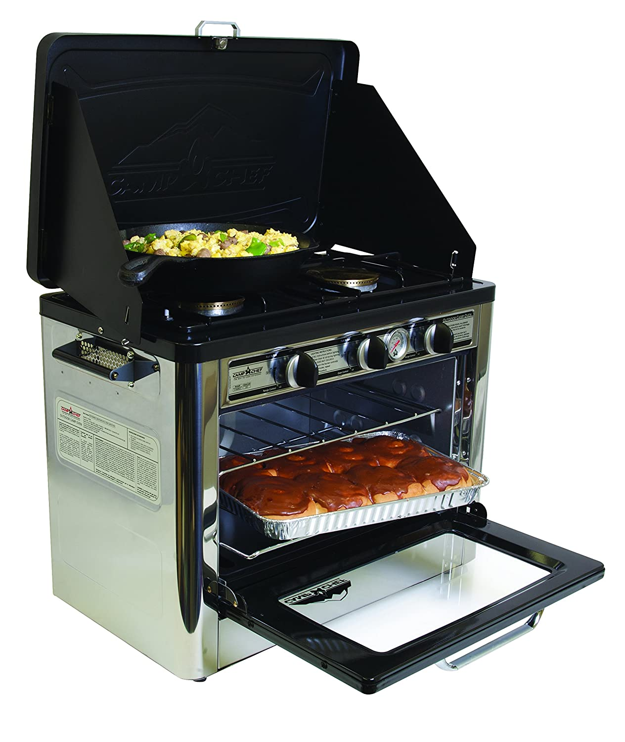 BBQ Kitchen Range Electric Oven Stove 2-Burner Propane Gas