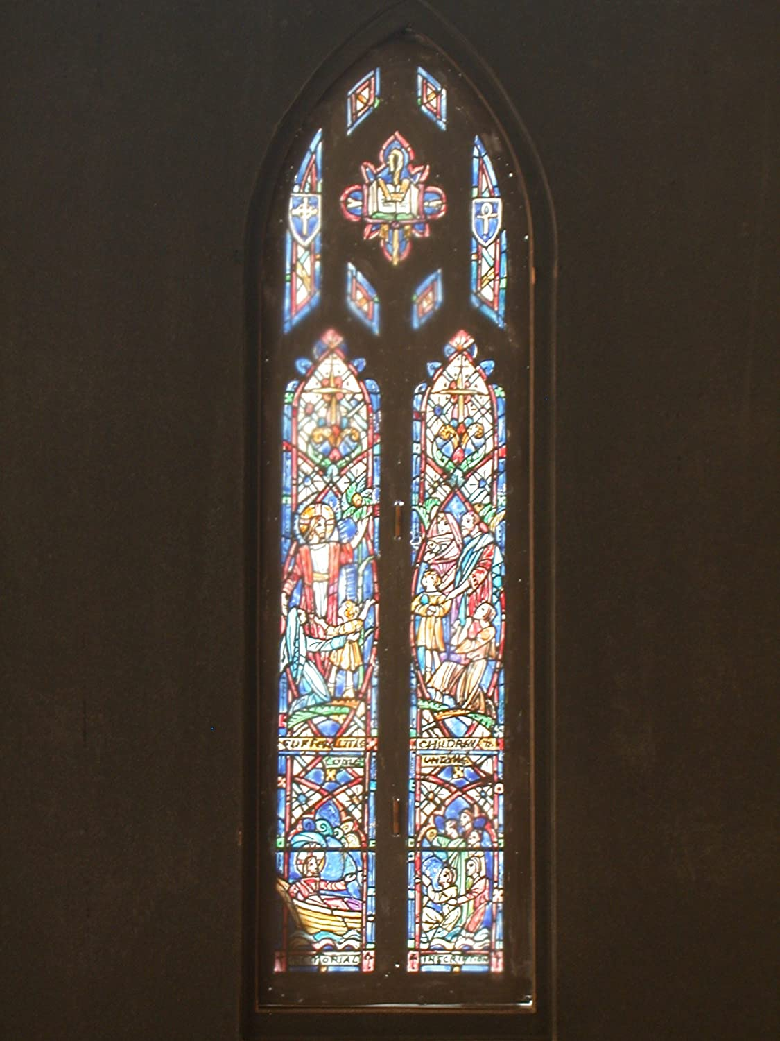 "Design drawing for stained glass Clerestory window ""Teaching"" for St. Stephen's Episcopal Church in Richmond, Virginia"