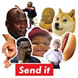 Funny Sticker Pack Internet Memes | Premium Quality Vinyl Meme Stickers for Laptop, Phone and Accessories