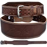 RDX Cow Hide Leather Gym 4 inch Training Weight Lifting Belt Back Support Fitness Exercise Bodybuilding,Brown,M 28 inch-32 inch (Waist Size not Pant Size), M 28 inch-32 inch (Waist Size not Pant Size), Brown (Color: Brown, Tamaño: M 28