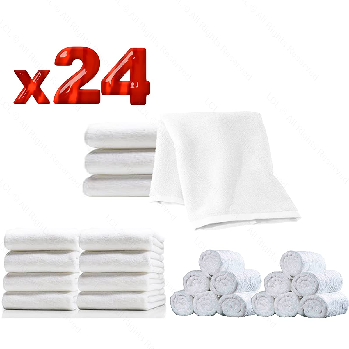 High Capacity Hot Towel & UV Sterilizer Cabinet 24 Ultra-Soft Microfiber Facial Towels Included