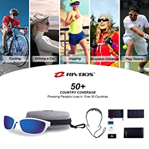 32854892f92 RIVBOS Polarized Sports Sunglasses Driving Sun Glasses Shades for Men Women Tr  90 Unbreakable Frame for Cycling Baseball Running ...