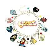Superheroes Brand Stevens Universe Cartoon Charm Bracelet w/Gift Box Movies Premium Quality Cosplay Jewelry Series (Color: Multicolored)