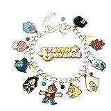 Superheroes Brand Stevens Universe Cartoon Charm Bracelet w/Gift Box Movies Premium Quality Cosplay Jewelry Series (Color: Multicolored)