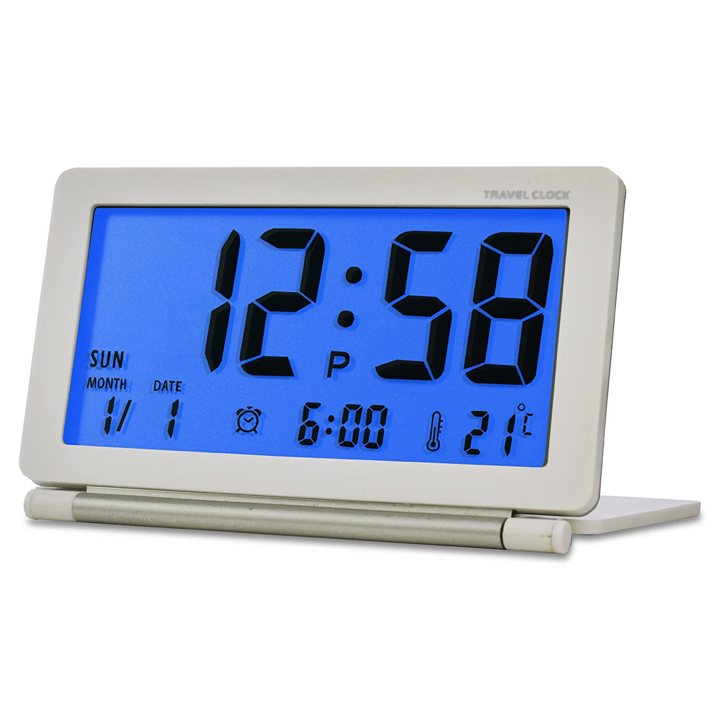 acctim 14572 orlean compact travel folding alarm clock. Black Bedroom Furniture Sets. Home Design Ideas