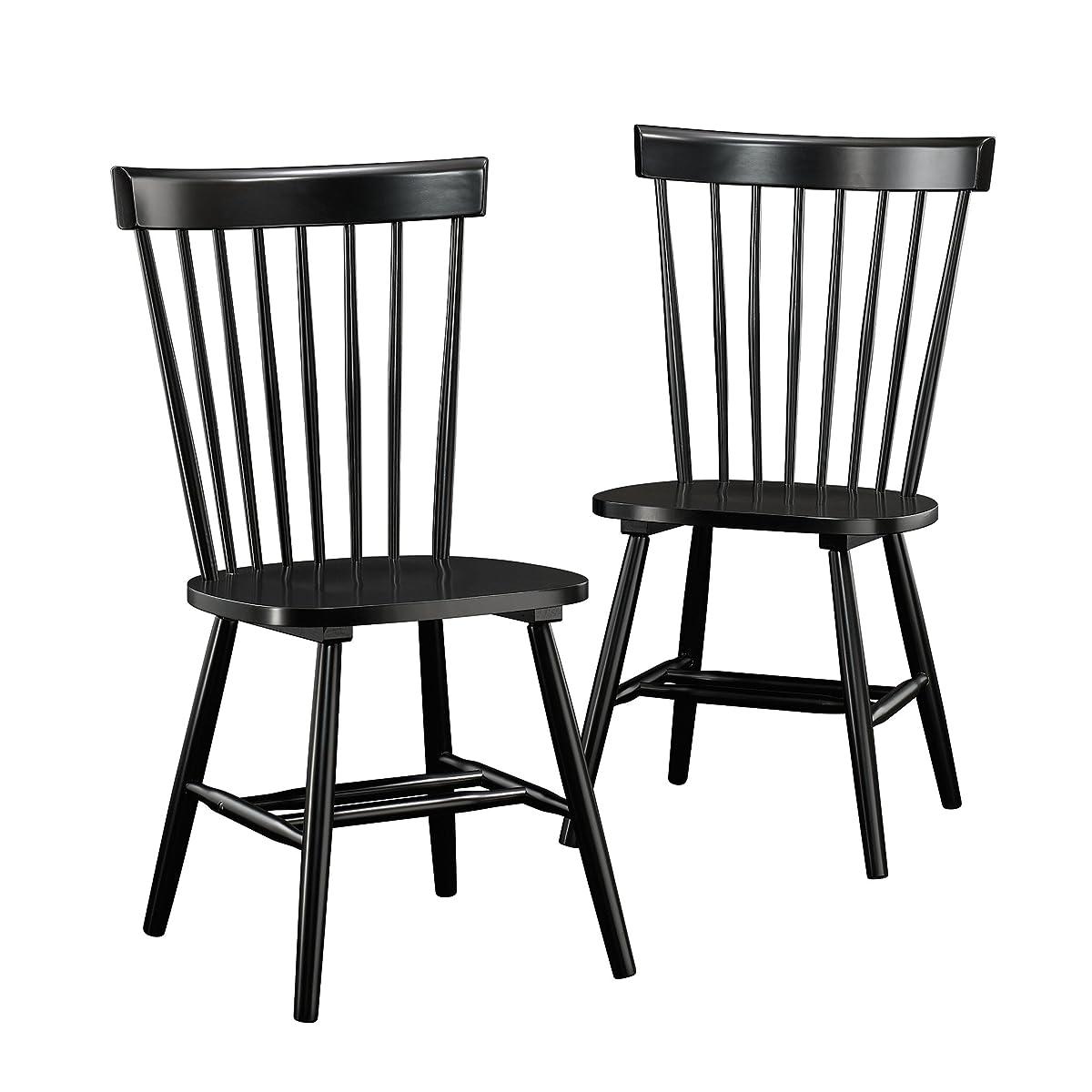 Sauder 418892 Spindle Back Chairs, Black