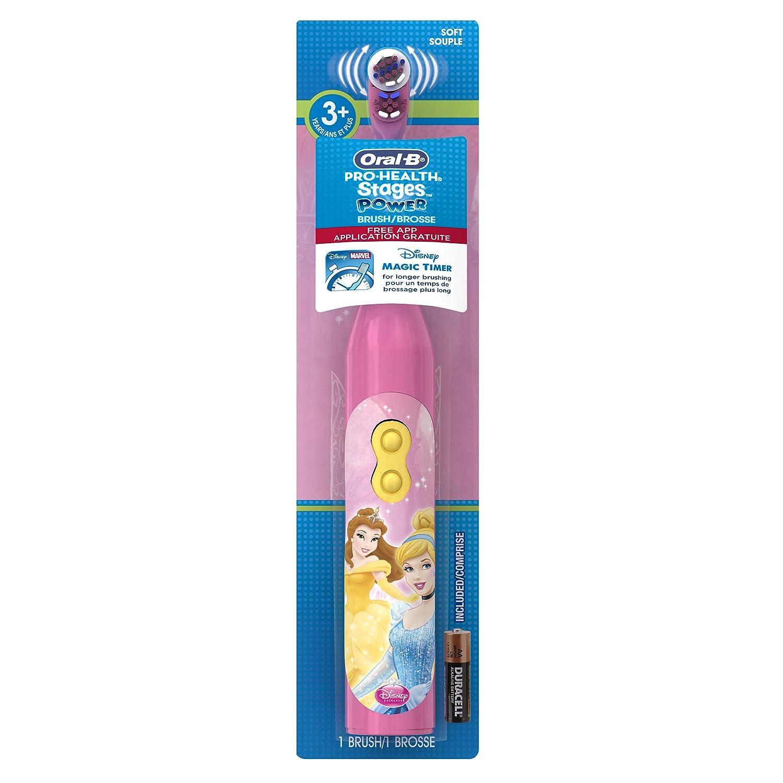 Mặt trước bàn chải đánh răng điện trẻ em Oral-B Disney Princess
