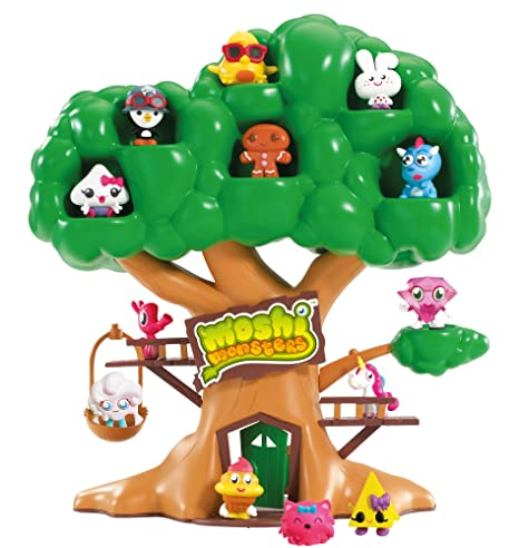 Moshi Monsters – Moshling – Moshling Treehouse - La Cabanne des Moshlings (Figurines Non Incluses)
